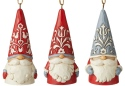 Jim Shore 6006629N Nordic Noel Set of 3 Gnome Ornaments