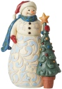 Jim Shore 6006646 Snowman With Tree Figurine