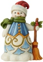Jim Shore 6006653 Snowman With Broom Figurine