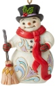 Jim Shore 6006677 Snowman With Long Scarf Hanging Ornament