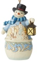 Jim Shore 6006678 Snowman & Village Scene Hanging Ornament