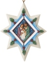 Jim Shore 6006684 Star With Holy Family Hanging Ornament
