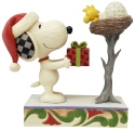 Peanuts by Jim Shore 6006938 Snoopy With Gift for Woodstock Figurine