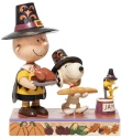Peanuts by Jim Shore 6006943 Thanksgiving Charlie Brown Figurine