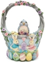 Jim Shore 6006990 Set-5 Easter Basket Figurine