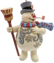 Jim Shore Frosty 6007345 Frosty With Broom Ornament