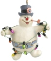 Jim Shore Frosty 6007346 Frosty Wrapped In Lights Ornament