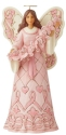 Jim Shore 6008100N Pink Angel and Butterflies Figurine