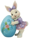 Jim Shore 6008406 Girl Bunny With Egg Figurine