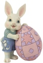 Jim Shore 6008407 Boy Bunny With Egg Figurine