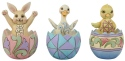Jim Shore 6008409 Mini Easter Eggs 3 Figurine