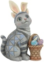 Jim Shore 6008412 Easter Cat Mini Figurine