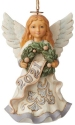 Jim Shore 6008869N Woodland Angel Dated 2021 Ornament