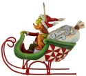 Jim Shore Grinch 6008895N Grinch and Max in Sleigh Ornament
