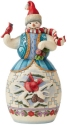 Jim Shore 6008918N Snowman with Cardinal Figurine
