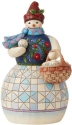 Jim Shore 6008919N Snowman and Basket Figurine