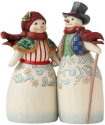 Jim Shore 6008920N Snowman Couple Holding Hands Figurine