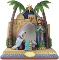 Jim Shore 6008924N Set of 4 Holy Family and Stable Figurines