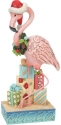 Jim Shore 6008934N Christmas Flamingo Figurine