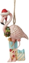 Jim Shore 6008939N Christmas Flamingo Ornament