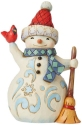 Jim Shore 6009005N Snowman Holding Car Figurine