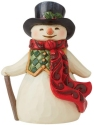 Jim Shore 6009008N Snowman Long Red Scarf Figurine