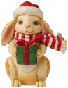 Jim Shore 6009012N Christmas Bunny Mini Figurine