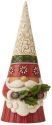 Jim Shore 6009180N Christmas Gnome With Holly Figurine