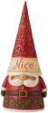 Jim Shore 6009185N Naughty and Nice 2 Sided Gnome Figurine