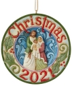 Jim Shore 6009193N Holy Family Dated 2021 Ornament