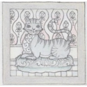 Jim Shore 6009338N Grey Laying Cat Plaque