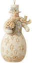 Jim Shore 6009401N Holiday Lustre Snow Ornament