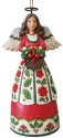 Jim Shore 6009456N Christmas Floral Angel Ornament
