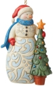 Jim Shore 6009468N Snowman with Tree Ornament