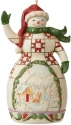 Jim Shore 6009470N Red and Green Snowman Ornament