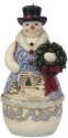 Jim Shore 6009498N Victorian Snowman and Wreath Ornament