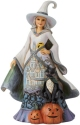 Jim Shore 6009506N Good Witch and Pumpkin Figurine