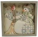 Jim Shore 6009565N Snowman Plaque