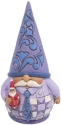 Jim Shore 6009583N Purple Gnome With Santa