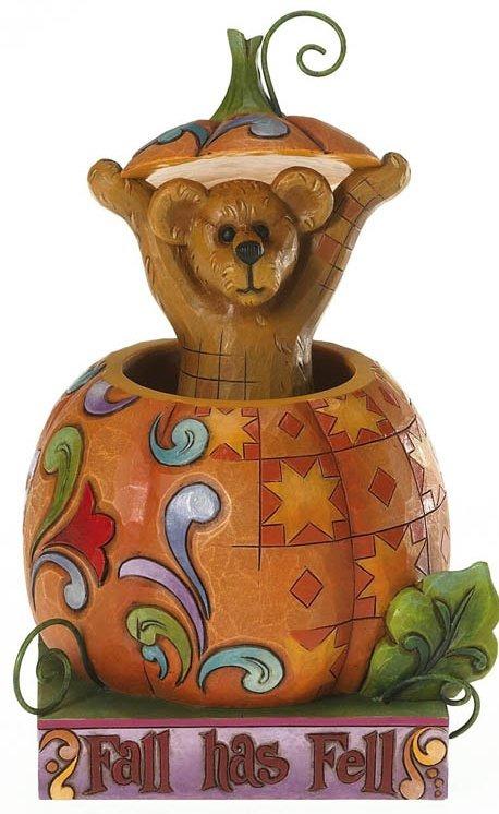 Boyds Bears by Jim Shore 4015154 Bear In Pumpkin Figurine