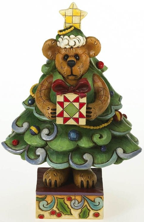 Boyds Bears by Jim Shore 4015159 Bear Dressed As Tree Figurine