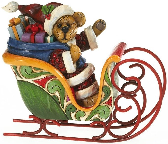 Boyds Bears by Jim Shore 4016477 Santa Bear In Sleigh Figurine