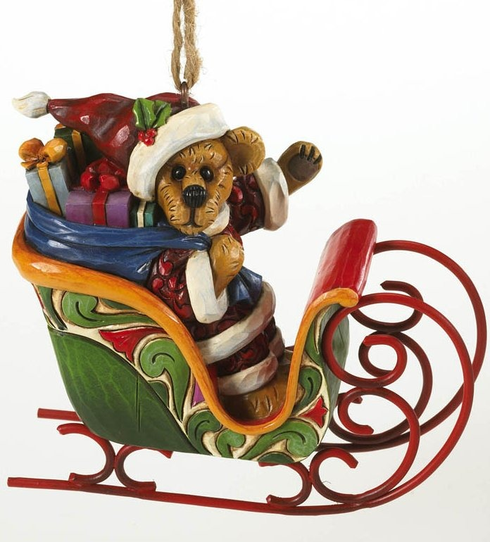Boyds Bears by Jim Shore 4016479 Santa Bear In Sled Ornament