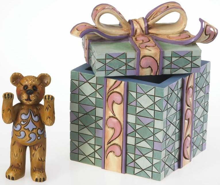 Special Sale 4020855 Boyds Bears 4020855 Bear in Gift Wrapped Box Figurine Jim Shore