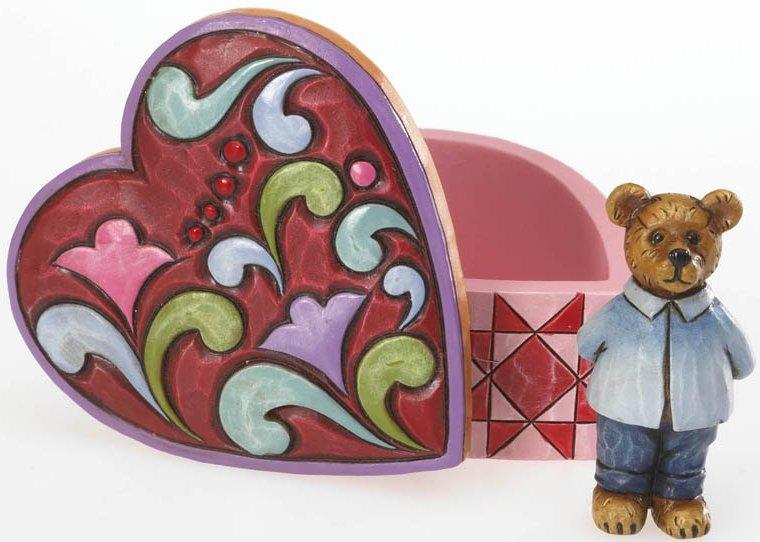 Boyds Bears by Jim Shore 4020870 Mini Heart Box With Bear