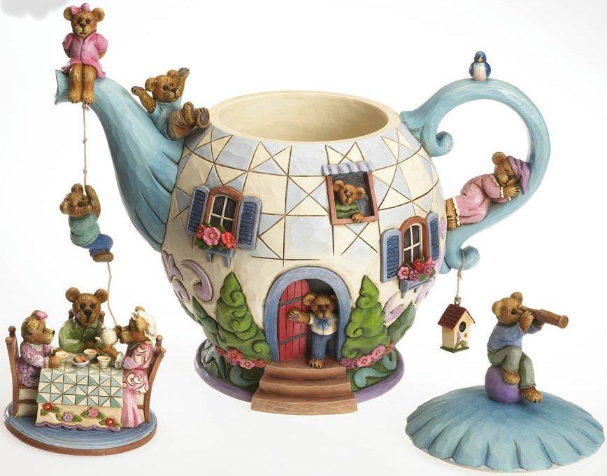Boyds Bears by Jim Shore 4021086 Bears In Teapot Figurine