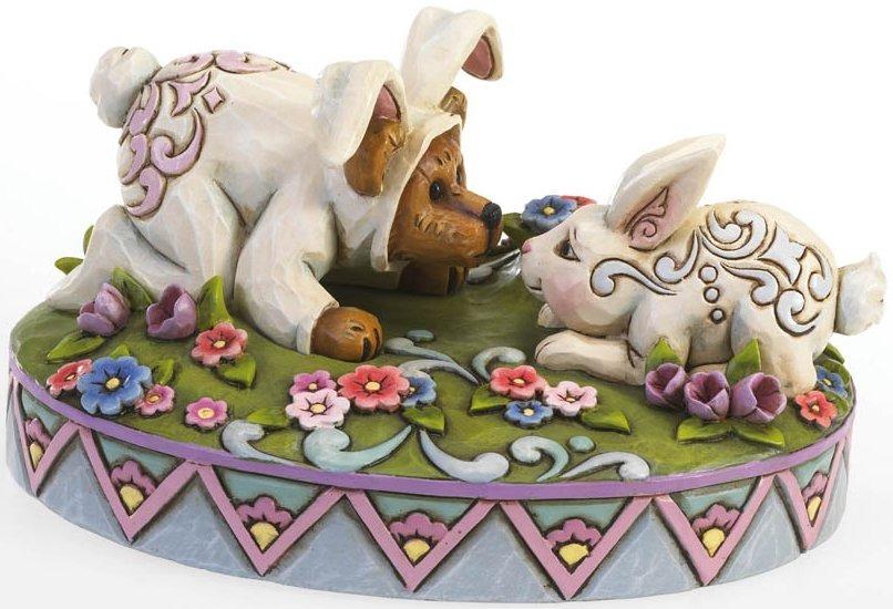 Boyds Bears by Jim Shore 4021399 Bunny Bear and Bunny Friend Figurine