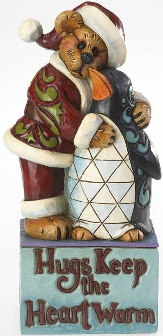 Boyds Bears by Jim Shore 4022302 Bear Hugging Penguin Figurine