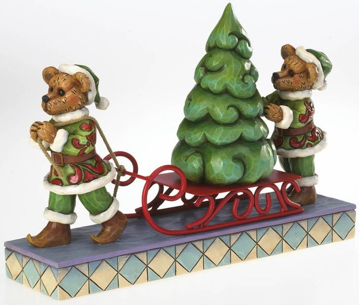 Boyds Bears by Jim Shore 4022303 Elves Carrying A Tree Figurine