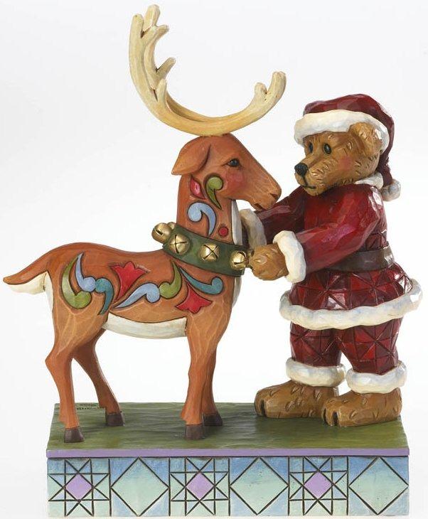 Boyds Bears by Jim Shore 4022305 Santa Bear & Reindeer Figurine